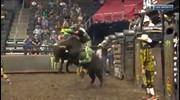 Marco Eguchi rides Charlie Brown for 87.25 points