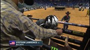 Stetson Lawrence rides Bullseye for 89.5 points
