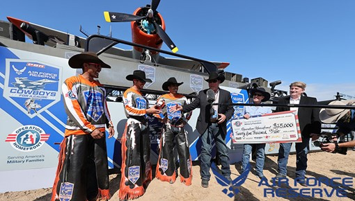 Air Force Reserve Flight to the Lexington: PBR bucks bulls on aircraft carrier, raising $250,000 for military charities